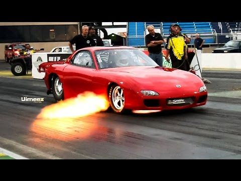FIRE BELCHING 7 SEC. MAZDA RX-7 AT RT66 FRIDAY NITE TEST N TUNE