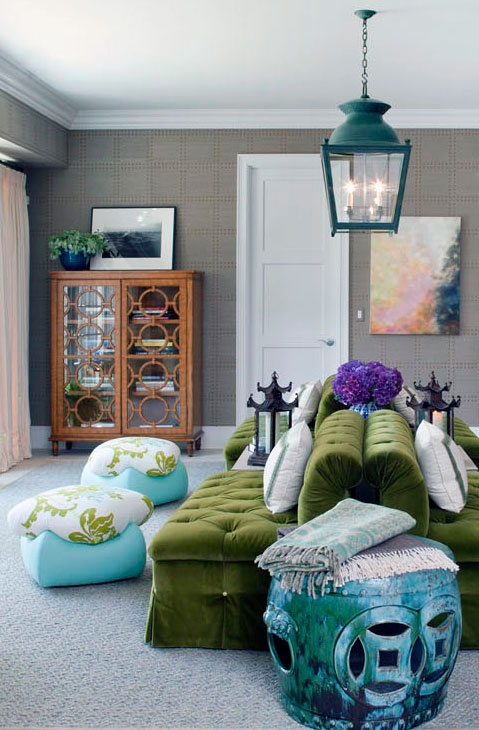 Moss Green Sofas by Tilton Fenwick