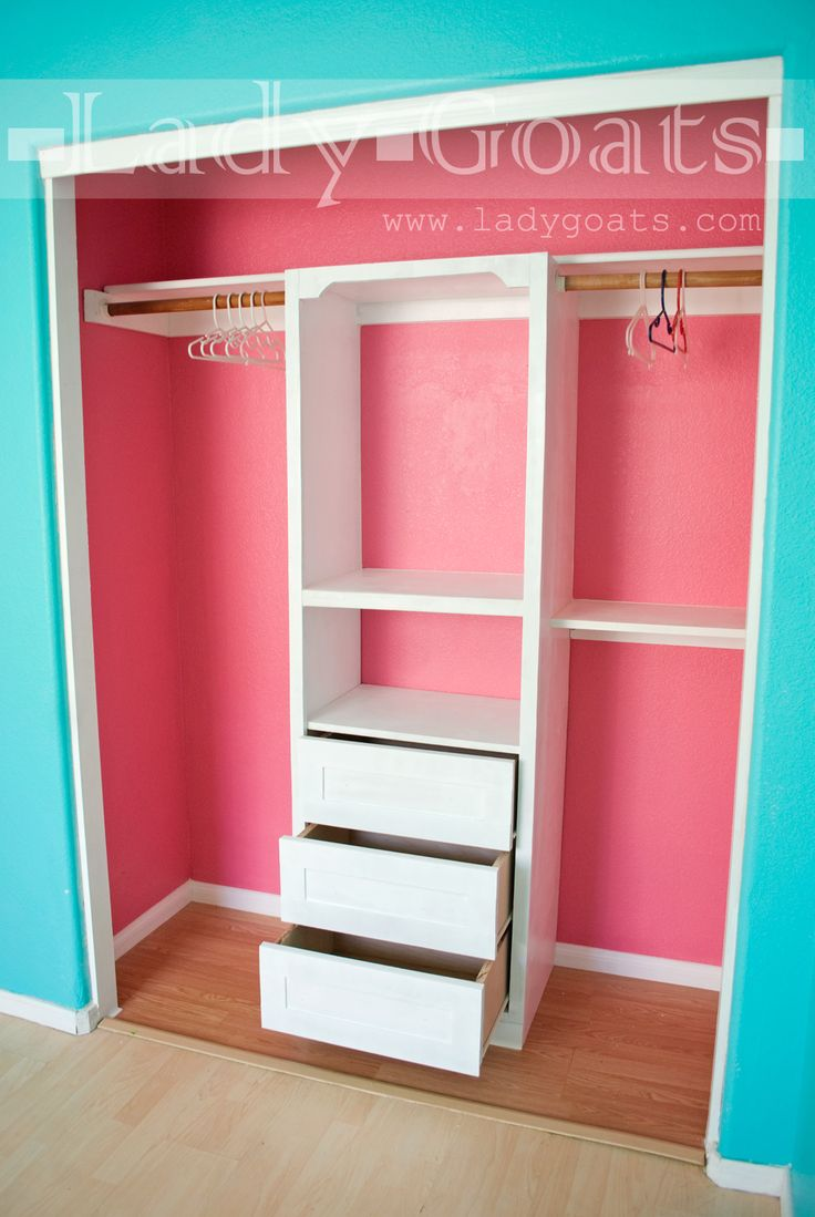 Bedroom for kids girls - Diy Closet