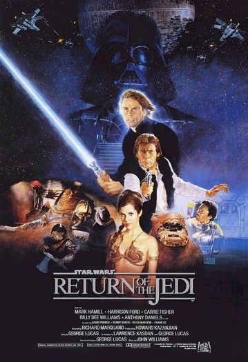 Return of the Jedi (1983) 1/1/13-Turned the TV over to Spike to watch this after the ball dropped.