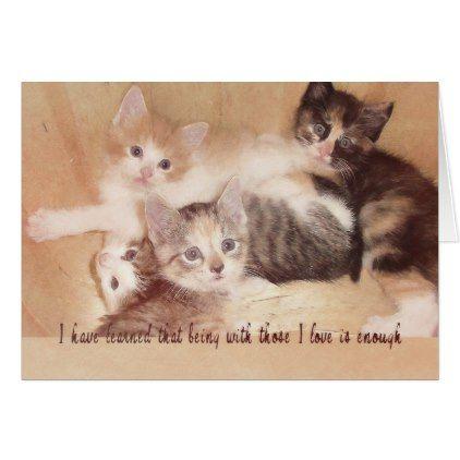 FOUR LITTLE KITTENS 5x7 GREETING CARD - love cards couple card ideas diy cyo
