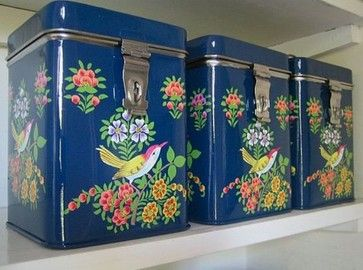 Hand Painted Kashmiri Tin - eclectic - food containers and storage - Not on the High Street