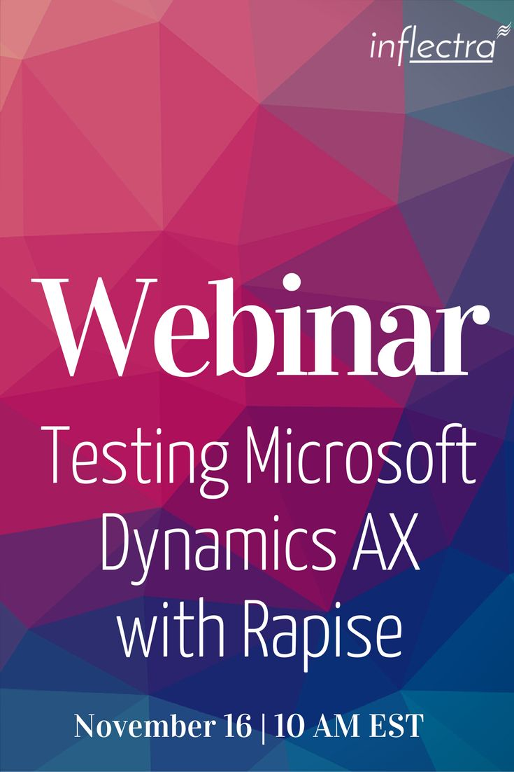 Webinar: Testing Microsoft Dynamics AX with Rapise! Let's face it - testing Microsoft Dynamics AX is hard. (sigh) So if you are looking to reduce testing time and drive down testing costs, we may be able to help you! The webinar will take place on November 16, at 10:00 AM EST.  Please register now, as space is limited.