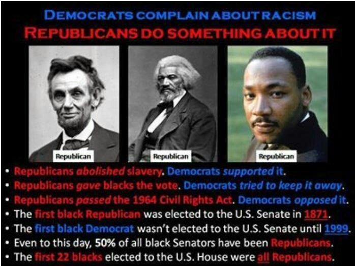The first black Republican senator in 1871. It was until 1999 that the first black Democratic senator was elected.
