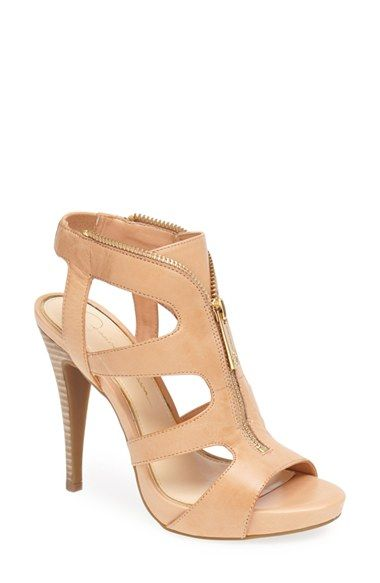 These leather cut-out sandals can command a room! Absolutely in love with the front zip detail.