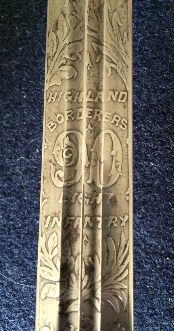 90th Regiment of British Militia Highland Borderers Light Infantry broadsword