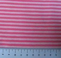 strepentricot roze-lichtroze /160 breed; voor jurkje