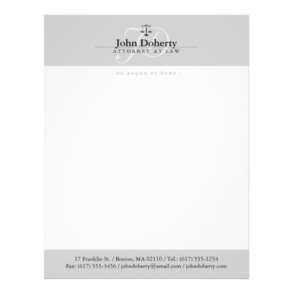 Classy Scales of Justice | Professional Letterhead Custom Legal Branding Office Products and Gifts #legal #lawyer #solicitor #law