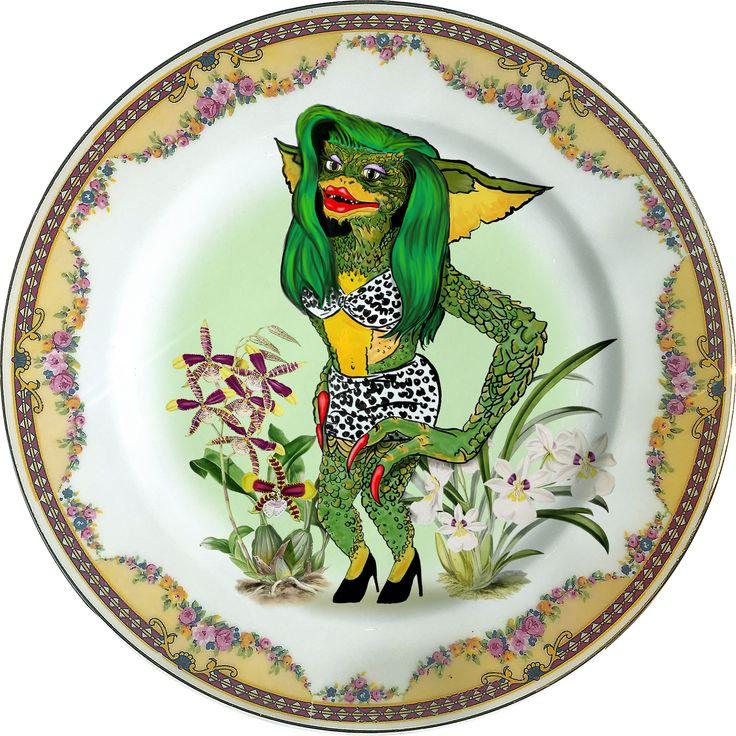 Greta - Gizmo - Gremlins - Vintage Porcelain Plate - #0381 by ArtefactoStore on Etsy