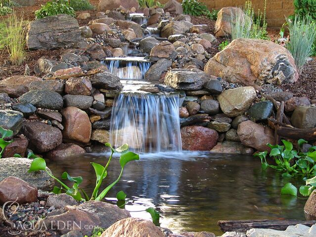 1000 ideas about pond waterfall on pinterest backyard for Garden pond waterfalls for sale