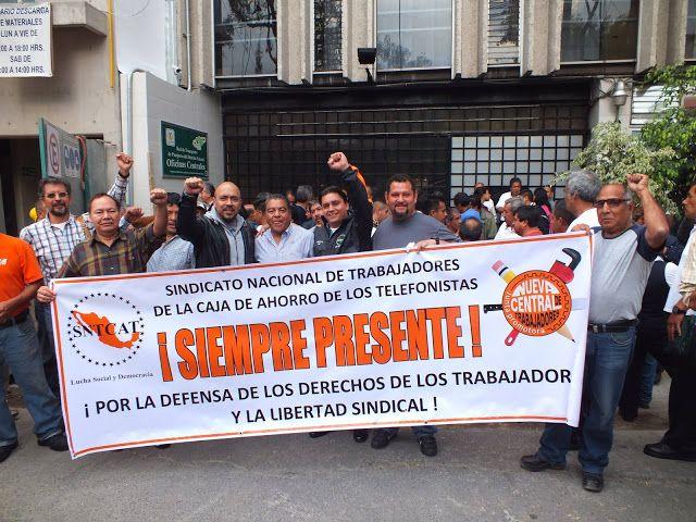 ¡NO AL CHARRAZO! TRABAJADORES DE LA CAJA DE AHORRO DE LOS TELEFONISTAS