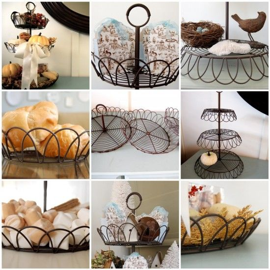 french wire tiered stand
