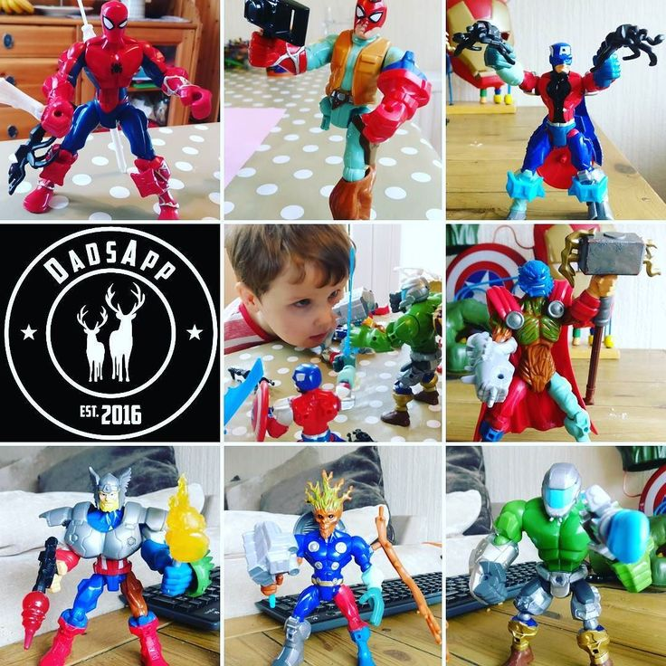 Someone is addicted to Marvel Mashers #DadsApp what's your kids favorite toy?