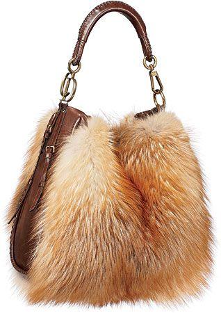 Dennis Basso Fur Purses: Red Fox Fur Purse