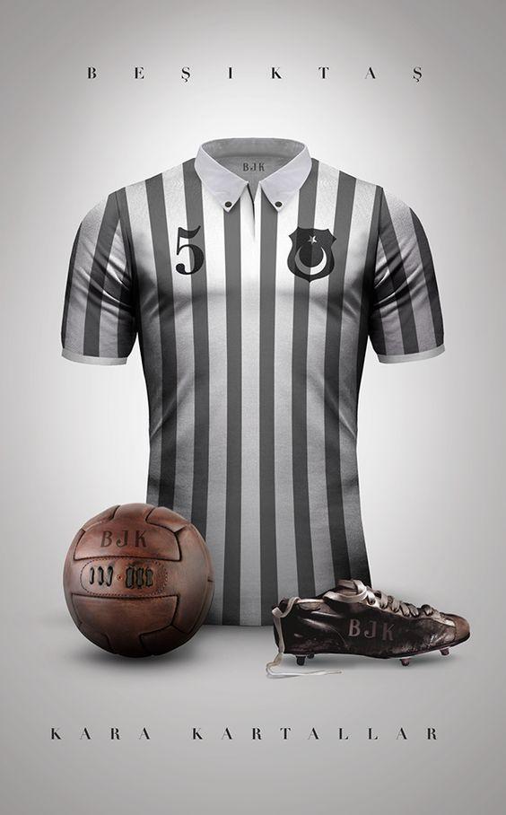 Vintage Clubs II on Behance - Emilio Sansolini - Graphic Design Poster - Beşiktaş - Kara Kartallar