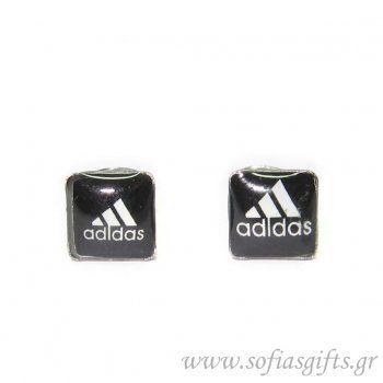 Πλακέ ανδρικό σκουλαρίκι Adidas #ανδρικά #σκουλαρικια #andrika #skoularikia #kosmhmata #κοσμηματα