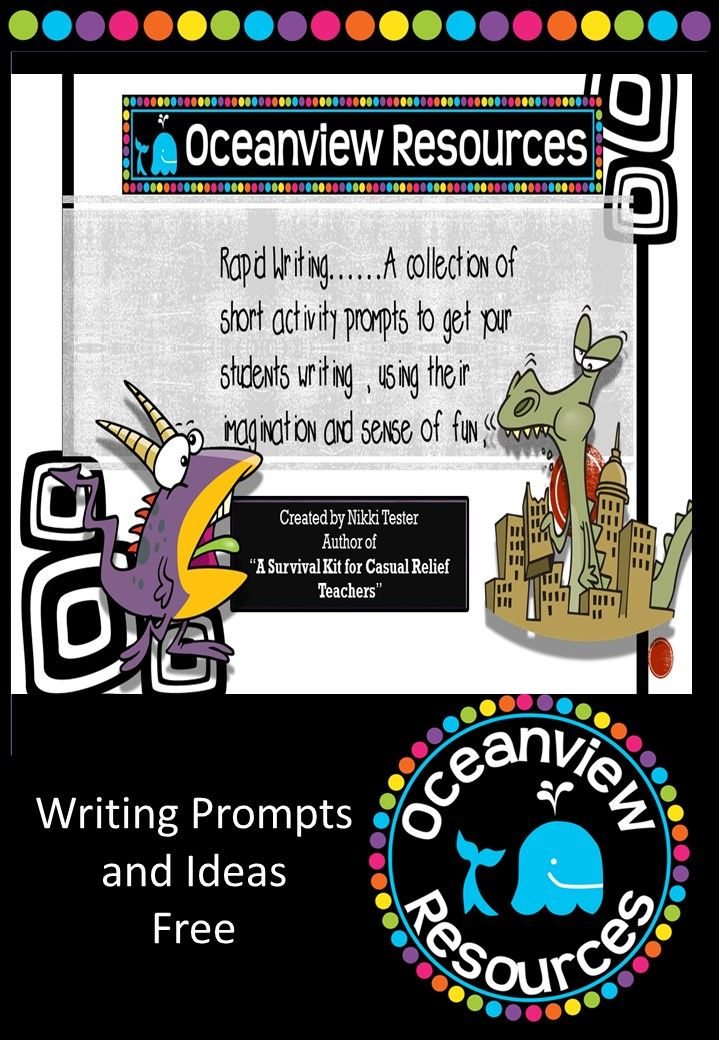 Use these quick writing starters to get the brain ticking over. These are best used as a timed activity with students given a short amount of time 10-15 minutes to work on their writing. 21 pages FREE! http://designedbyteachers.com.au/marketplace/writing-prompt-ideas-free/