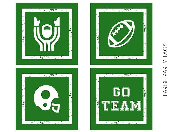 Free football party printable tags #freeprintables #football