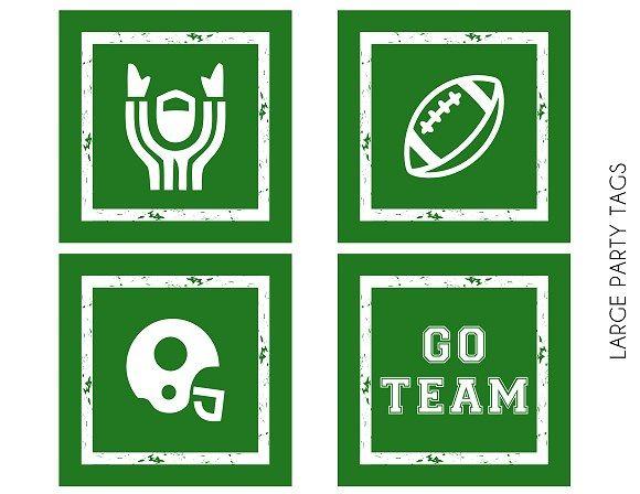 Free football party printable tags #freeprintables #football