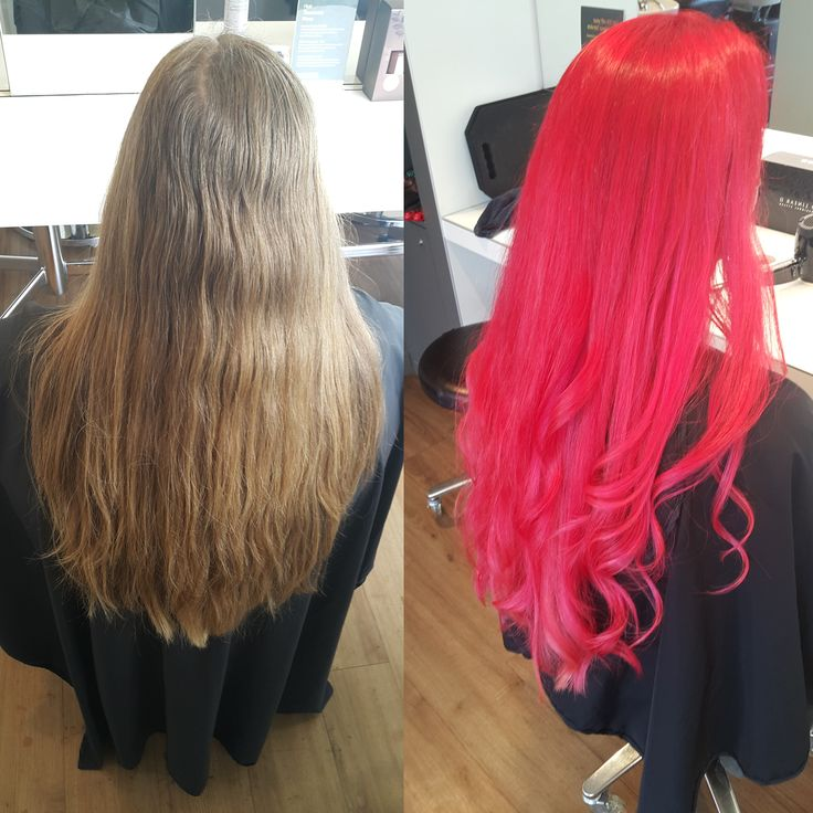 Colourist: Amanda Hue Albany. Seriously! How cool is this? #pinkhair