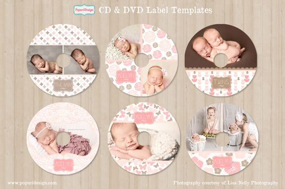 Check out CD / DVD Label Templates by Popuri Design on Creative Market