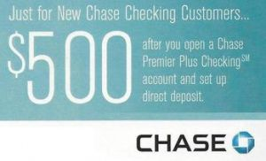 Chase Bank Bonus Coupon Codes.