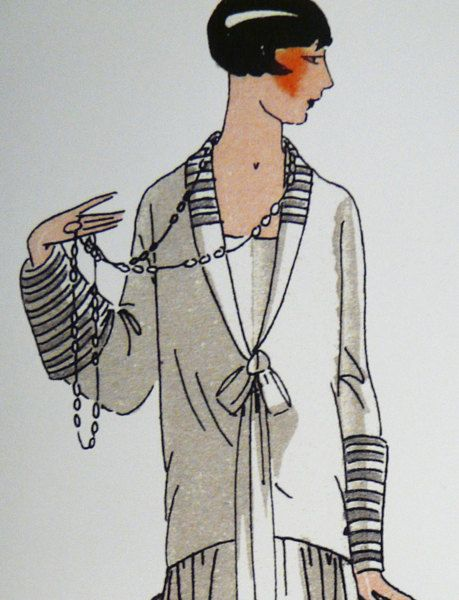 Vintage 1920s sewing pattern. Ornamental collar and by Contrapunt, €30.00