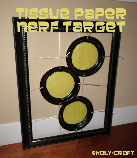Holy Craft: Nerf target practice birthday party