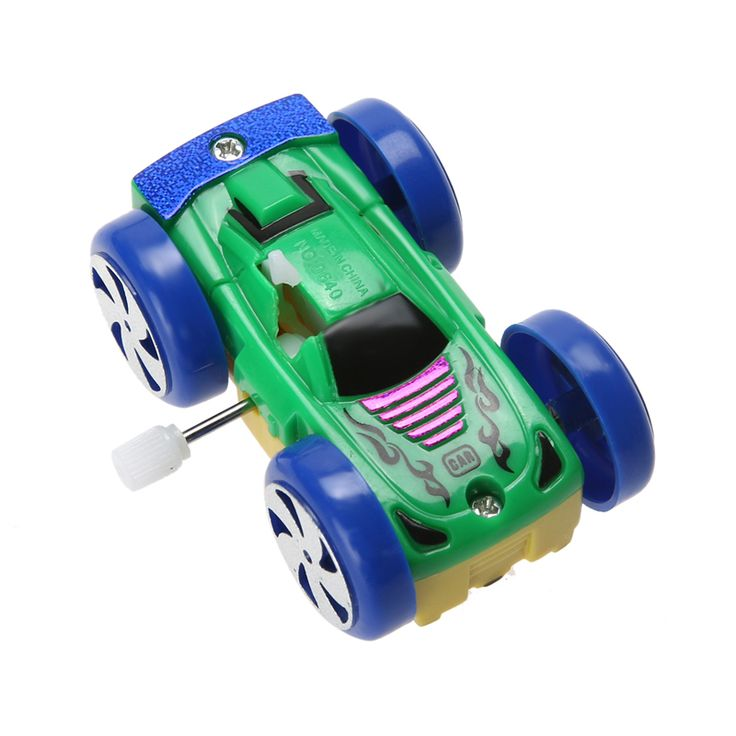 Somersault Bounce Cars Two-sided Pattern Clockwork Funny Toys Best Gift for Children Random Color Educational Toy for Children
