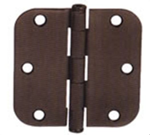 "Emtek 3.5"" Solid Brass Heavy Duty Door Hinges with 5/8"" Round Corners  (pair)"