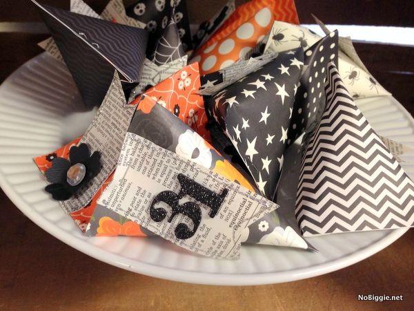 diy halloween paper craft sour cream packets - Diy Halloween Favors