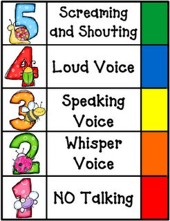 noise level monitor....  i have a few kids that seem to only have a 4 or 5 level voice :)  we need to work on that!