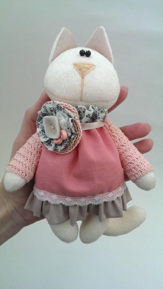 Игрушка мягкая Кошка. Весна.Stuffed toys. Cat. от KotOmkaRU
