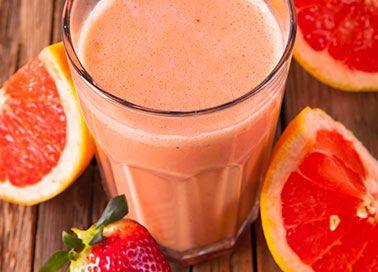 Yokebe Grapefruit-Erdbeer-Shake