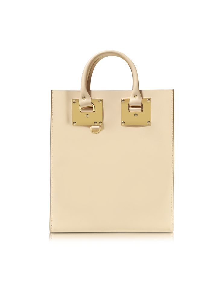 Sophie Hulme Oat Leather Mini Tote Bag at FORZIERI