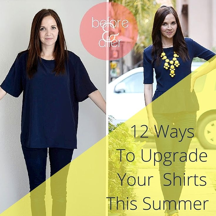Making your own clothes or altering things you've outgrown are two perfect ways to personalize your wardrobe. We've got 12 easy ways to upgrade your old t-shirts into entirely new pieces!