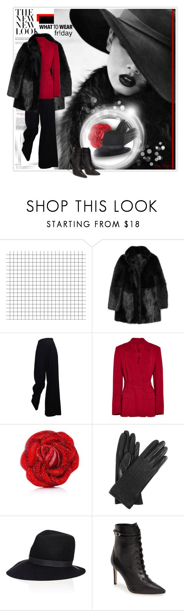 """Dressed to spend! Black Friday Shopping"" by mcheffer ❤ liked on Polyvore featuring Maybelline, Salvatore Ferragamo, The Row, Barbara Casasola, Judith Leiber, Dents, House of Lafayette, Sam Edelman and shoptilyoudrop"