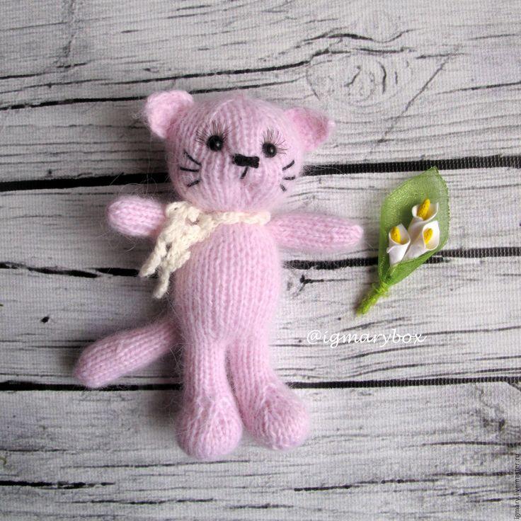 Купить МК Мишка, котик и др. СПИЦАМИ - комбинированный, мишка, котик, котик вязаный, олень