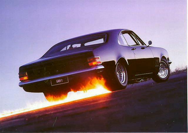 1969 Holden Monaro Nice shot with the flames