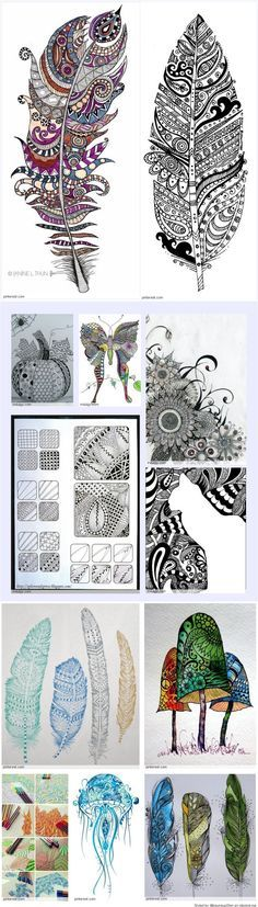 Zentangle Patterns. Art comes in all shapes and forms, be careful to not fit art in just one catorgary.