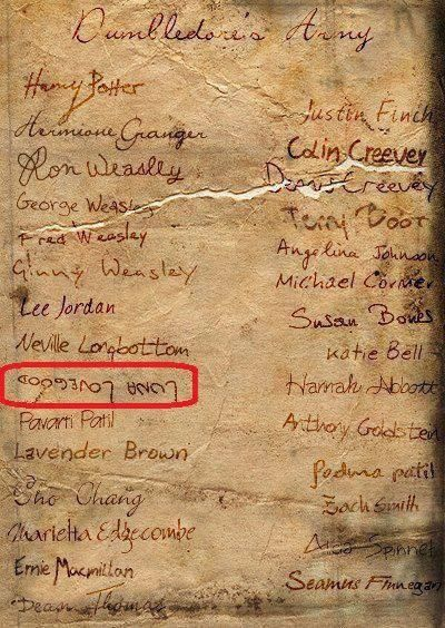 This just makes me smile.    Luna Lovegood, Harry Potter | Dumbledore's Army