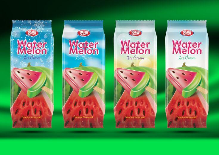 Shyaw Watermelon Ice Cream package design  #shyaw #icecream #watermelon #stick #stickicecream #red #green #fruit #fruits #packaging #packagingdesign #packing #design #graphicdesign #iraq #هندوانه #بستنی_هندونه #بستنی #عراق #سلیمانیه #بسته_بندی #طراحی_بسته_بندی #گرافیک #ایران