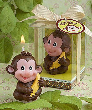 Adorable monkey candle favor