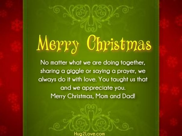 Best Xmas Wishes For Mom Dad