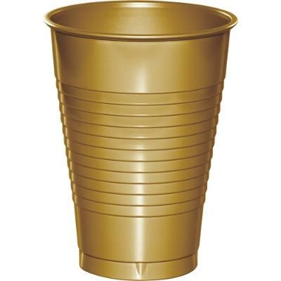 Glittering Gold 12 Ounce Flexible Plastic Cups (240/case)
