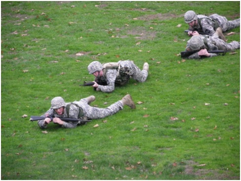 Cadets using individual tactic movements to reach thier objective