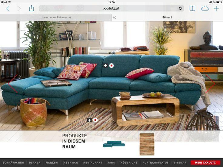 Couch Petrol Xxl Lutz Wohnen Blaues Sofa Bunte Couch
