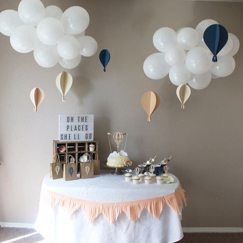 This Hot Air Balloon Party Package includes everything you need for your Custom colored Hot Air Ballon Party theme. Great for birthday parties and baby showers.