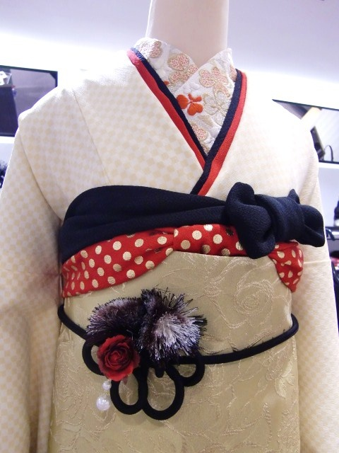 Modern take of a kimono, sold at Mamechiyo, Japan.