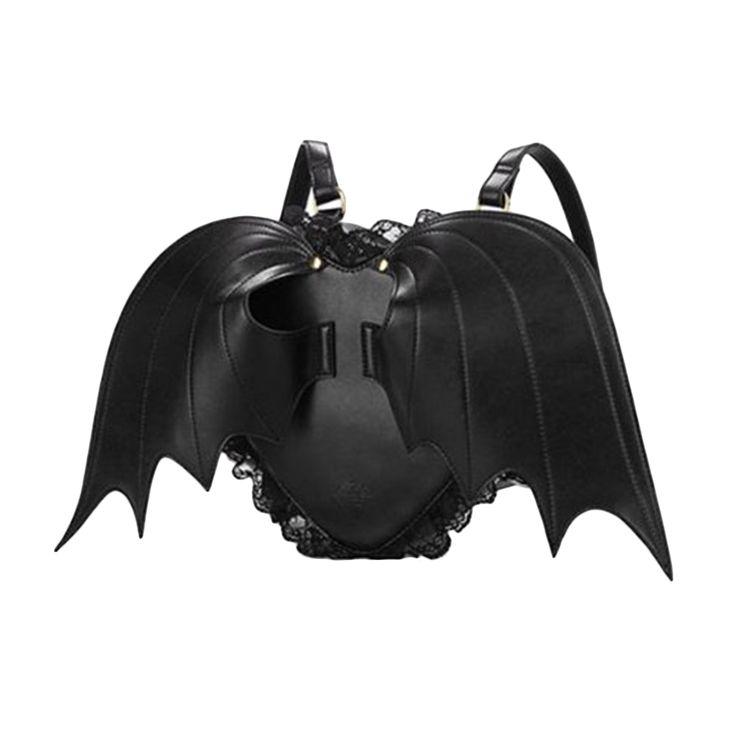 $31.65 (Buy here: https://alitems.com/g/1e8d114494ebda23ff8b16525dc3e8/?i=5&ulp=https%3A%2F%2Fwww.aliexpress.com%2Fitem%2FBlack-Women-Girls-Fashion-Bat-Wings-Gothic-Punk-Lace-Lolita-PU-Leather-Backpack-Love-Heart-Angel%2F32658336506.html ) Black Women Girls Fashion Bat Wings Gothic Punk Lace Lolita PU Leather Backpack Love Heart Angel Shoulder Bag for just $31.65